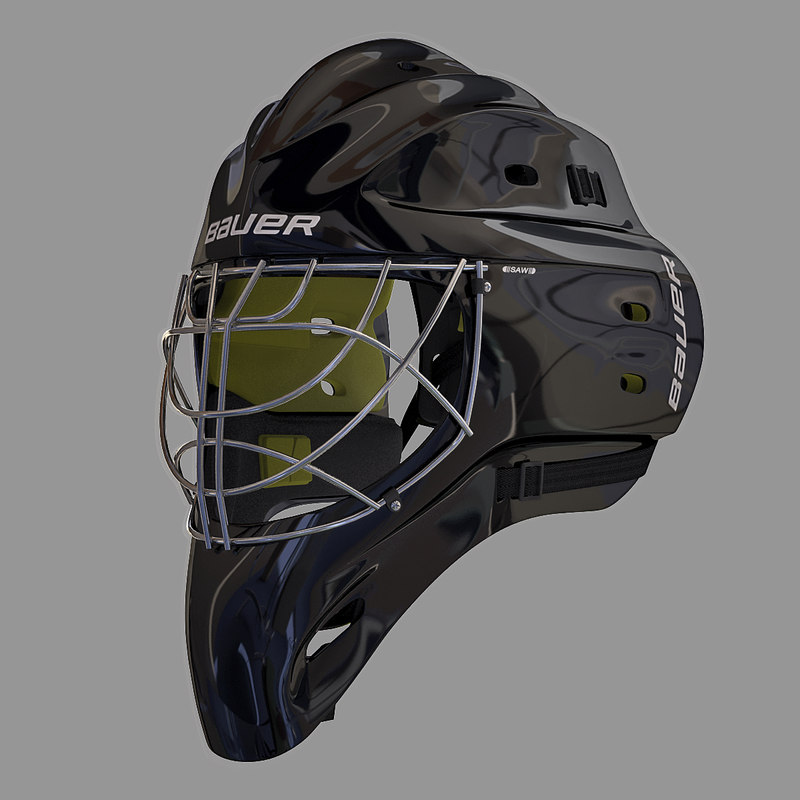 3d ice hockey mask for Bauer goalie mask template