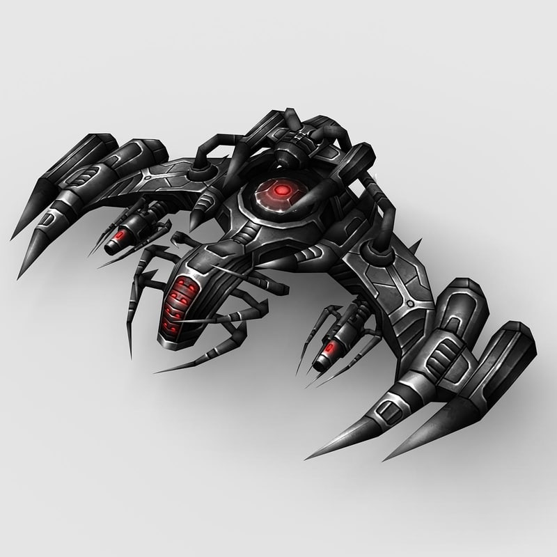 3d model alien spaceship