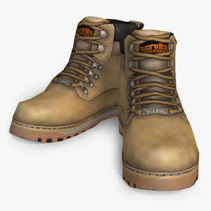 3d working boots scruffs model