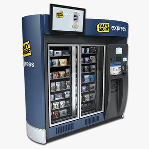 3dsmax electronics vending machine
