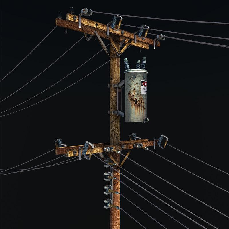 Liberscol Pole 3d : utility pole 3d model ~ Medecine-chirurgie-esthetiques.com Avis de Voitures