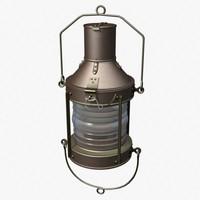 3d marine lantern lamp model