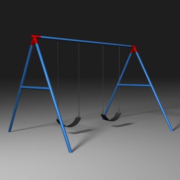 playground swing obj