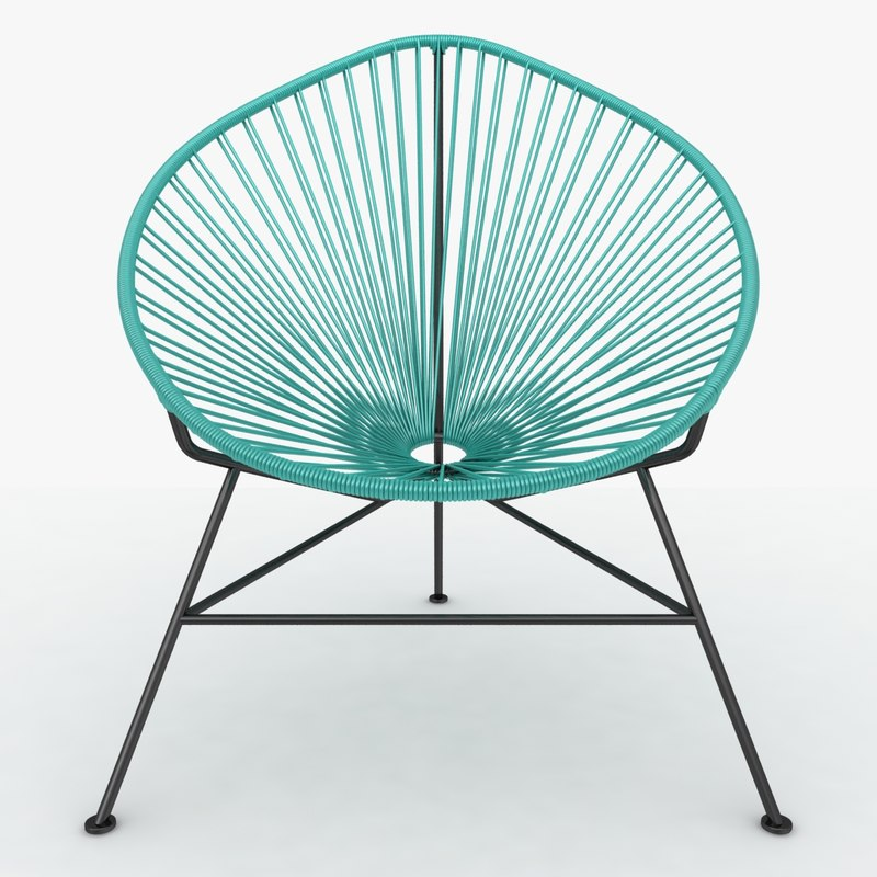3d model realistic acapulco chair