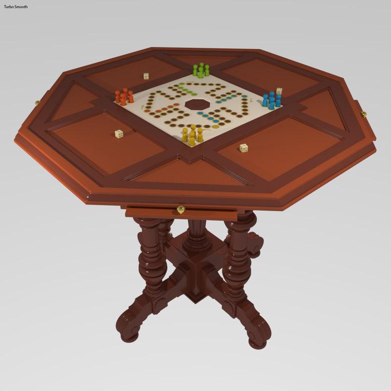 3d model gambling table