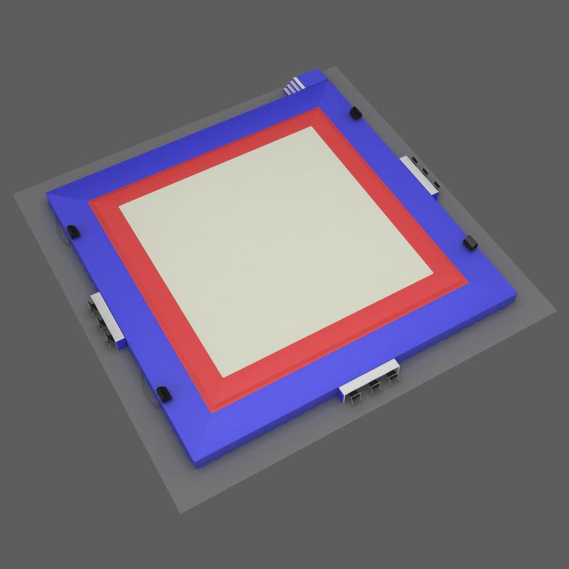 gymnastic floor 3d model