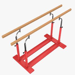 parallel bars 3d model