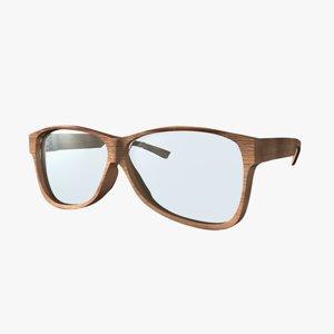 3d model eye glass eyeglasses