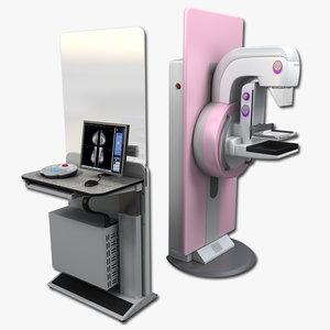 digital mammography 3d model