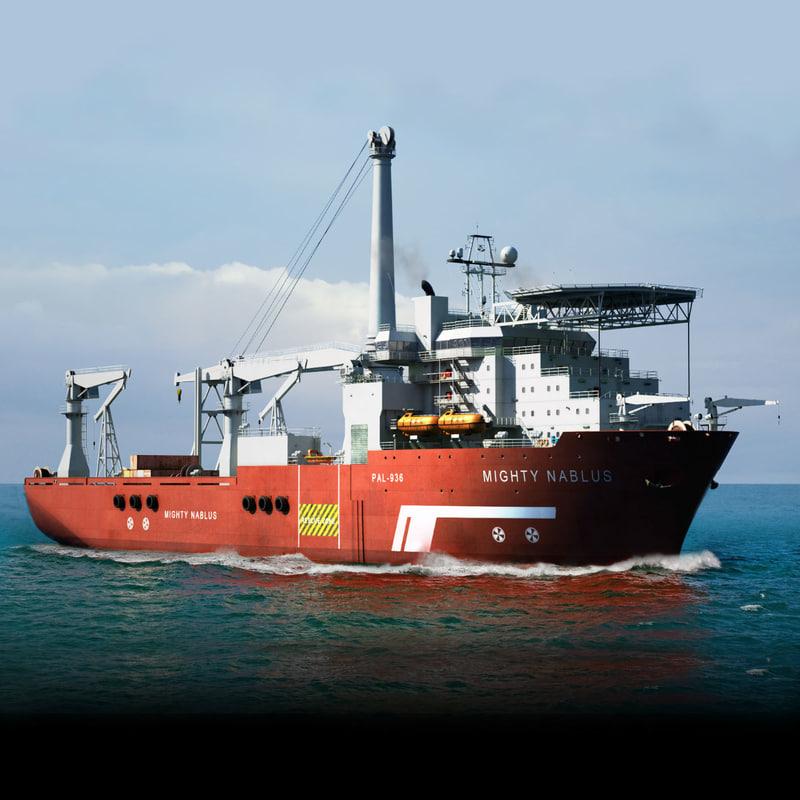 3ds max multipurpose vessel ship use