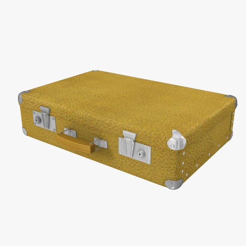 free suitcase music festival 3d model
