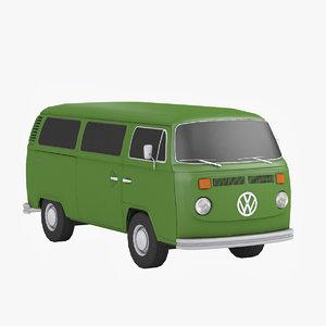 3d model t2 minibus
