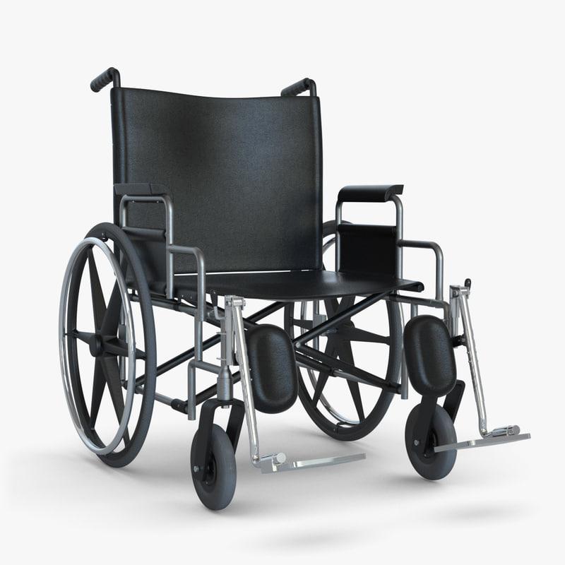wheelchair chair wheel 3d model