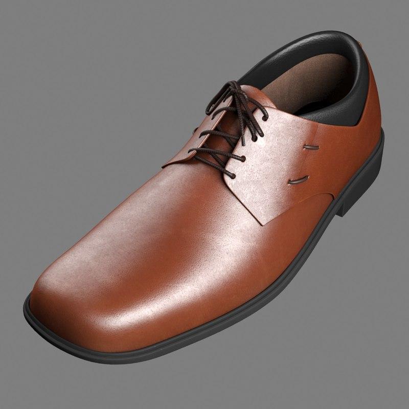 3d model men s formal shoe