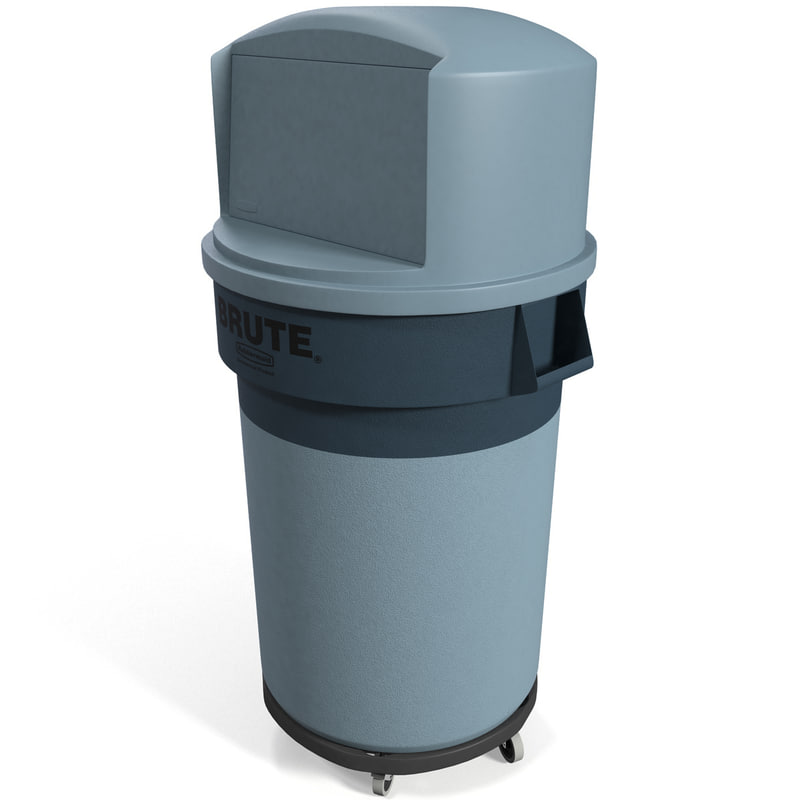 3ds commercial brute refuse container