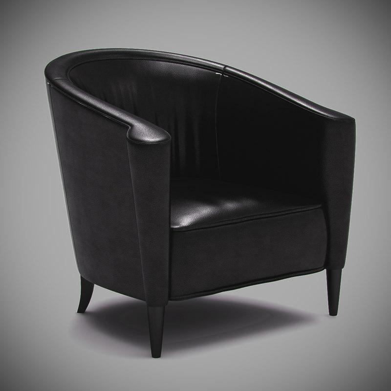 swaim - f5466 chair 3d model