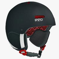 RED Winter Sports Helmet - Snowboard