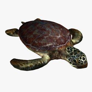 turtle sea 3d max