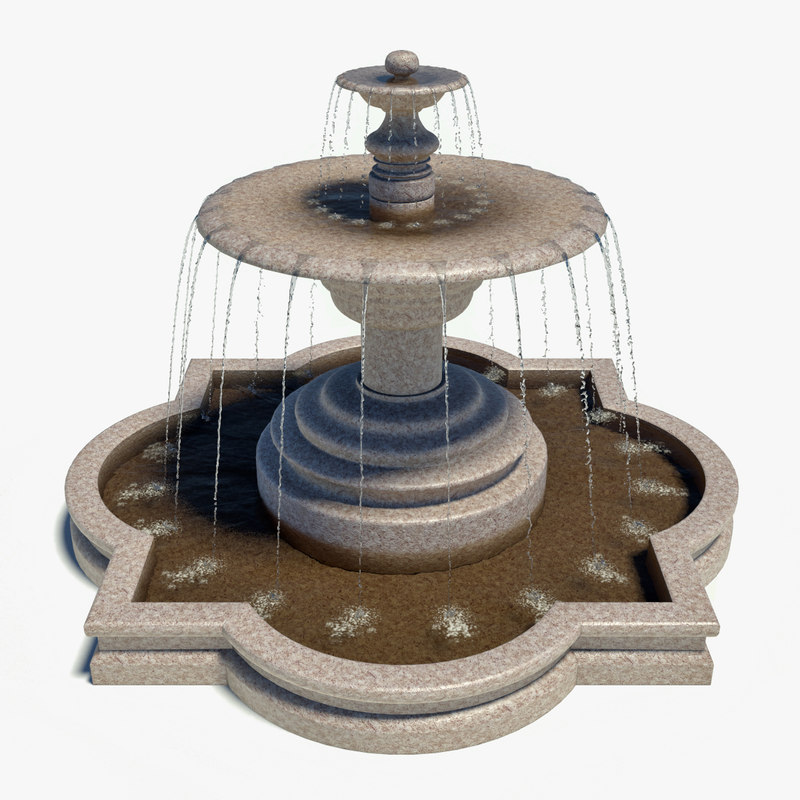3d water fountain model