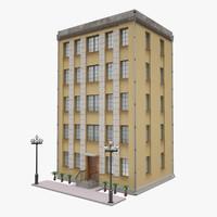 3d house town model