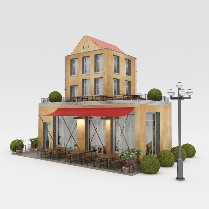 3d house town model
