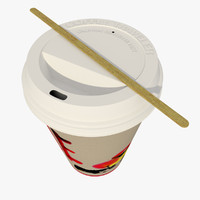 Paper Coffee Cup Red Character