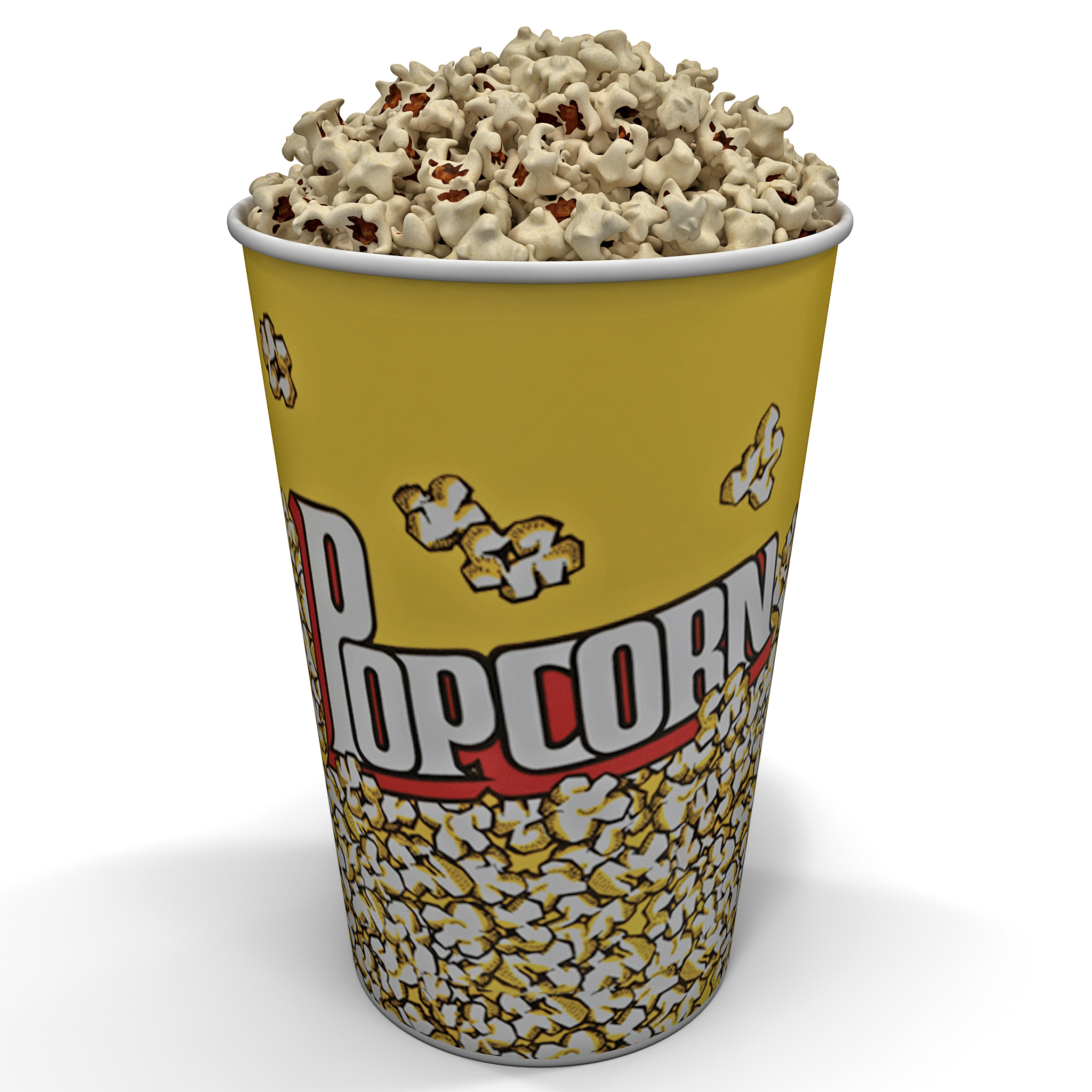 3d model popcorn bowl