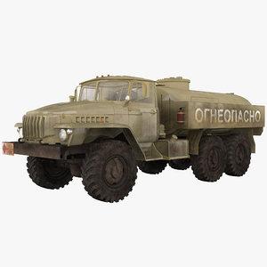 3d russian army tanker truck