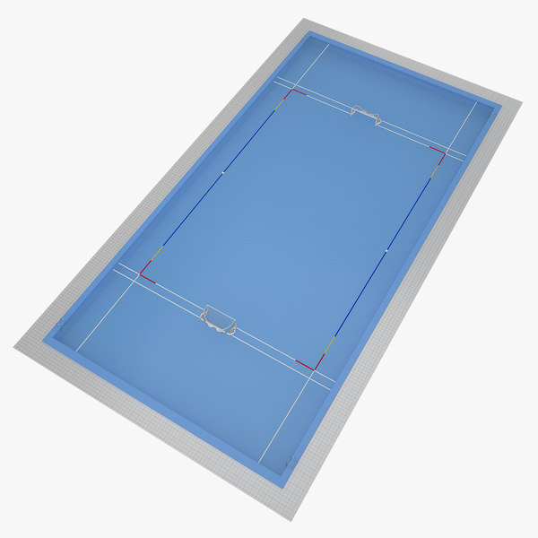 3d water polo pool