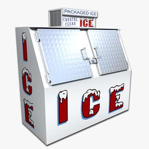 3d model of ice box