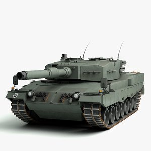 3d 3ds german leopard 2a4 tank