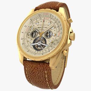 breitling tourbillon watch 3d model