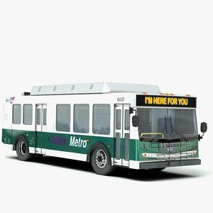3d max new flyer bus