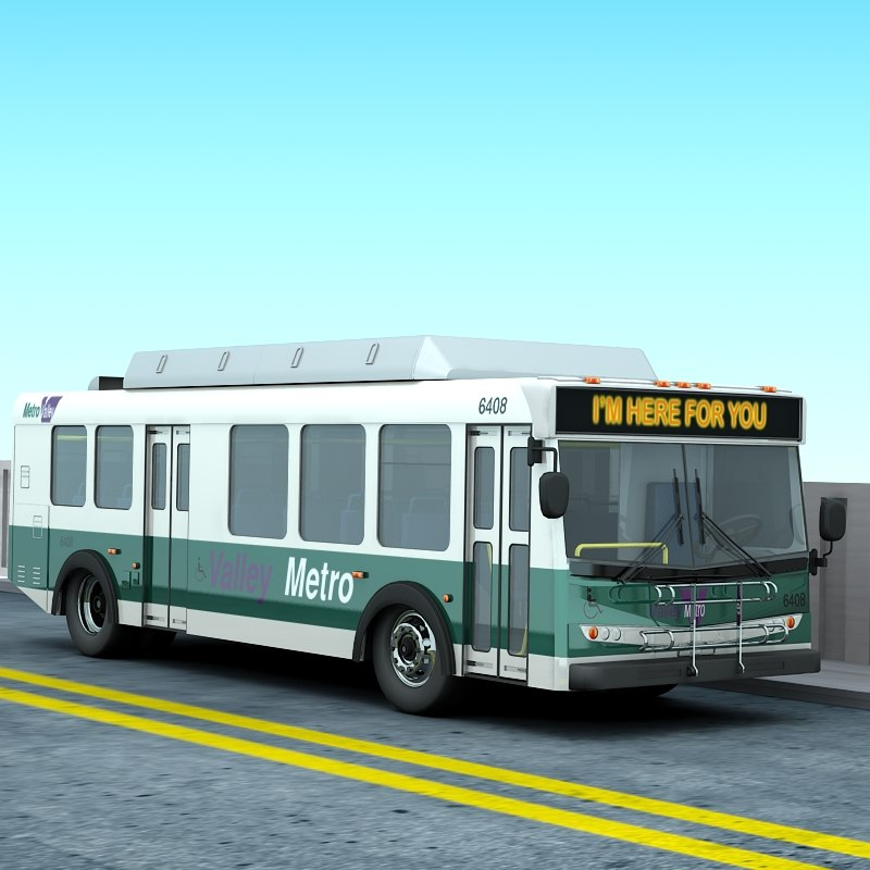 3d max new flyer bus