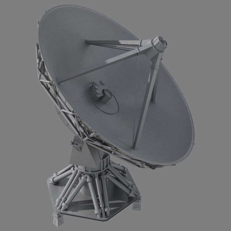 satellite dish antennae 3d max