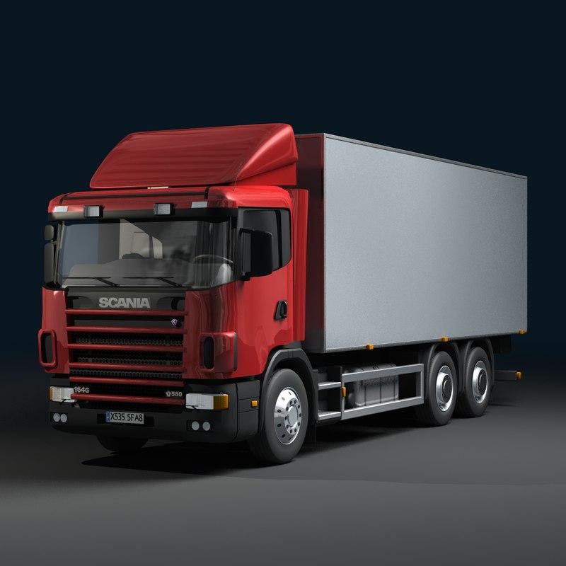 scania truck 3d model