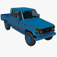 toyota landcruiser pickup truck 3d model