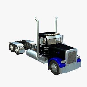 pete long frame truck 3d lwo