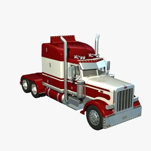 3d lwo pete 389 truck sleeper