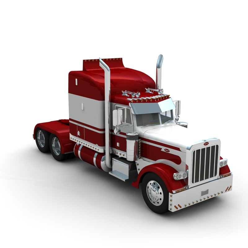 3d lwo pete 389 truck sleeper
