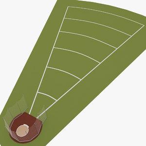 discus throw 3d model