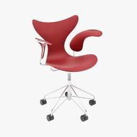 arne jacobsen lily chair 3d lwo