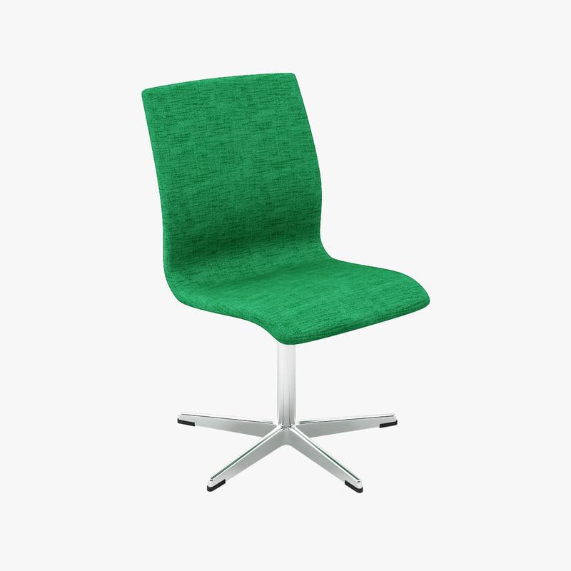 arne jacobsen oxford chairs 3d model