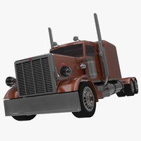 3d model of semi-truck