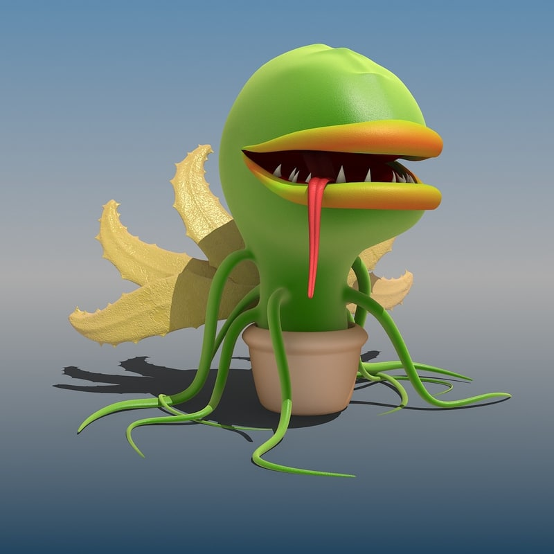 monster plant 3d max