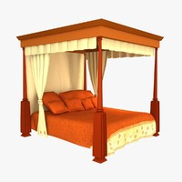 royal bed 3d model