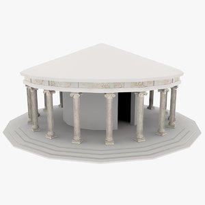 3d tempel temple rome model