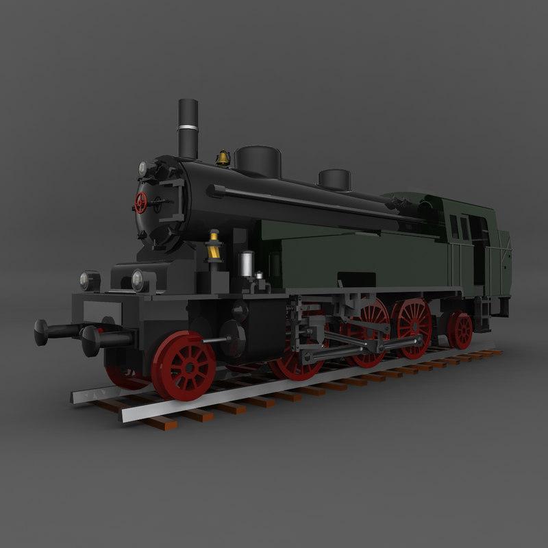 old train obj