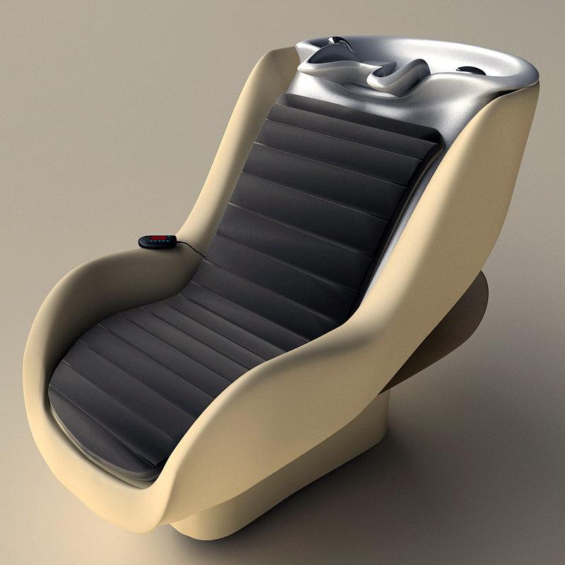 3d hairwash chair modern massage model