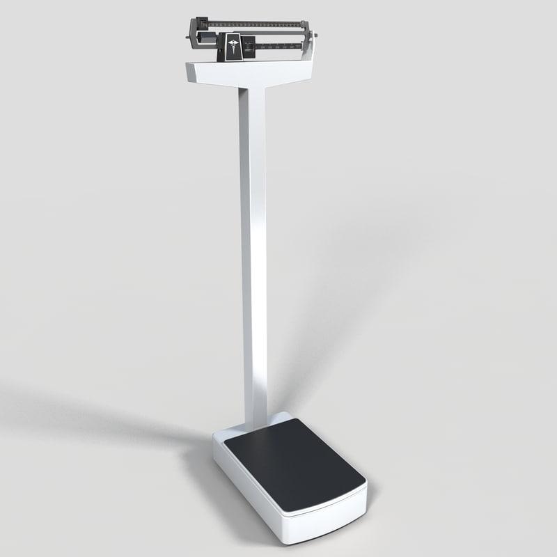 doctors scale 3d model